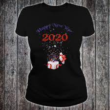 T Shirt Image For Design Funny 2020 Happy New Year Christmas Gift Cute Design Shirt