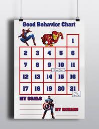 Good Behavior Avengers Sticker Chart Spiderman Ironman