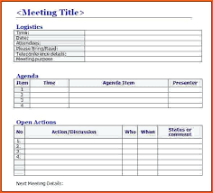 Minutes Template Microsoft Word Meeting Minutes Template Microsoft Word Project Notes Template Word
