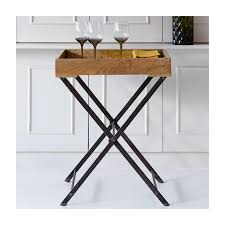 Tray Table Wooden Tray Table Incl Removable Tray
