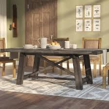 Wood dining tables Minimalist Colborne Extendable Solid Wood Dining Table Wayfair Kitchen Dining Tables Youll Love Wayfair