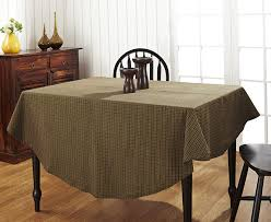 tea cabin green plaid 70 inch round tablecloth by victorian heart