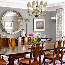 this dining room is ancd by vine finds and enlivened by an oversize mirror and chandelier dining room design in 2019 room traditional dining