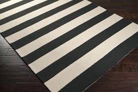 black and white striped outdoor rug nz