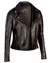 black corbani womens asymmetrical zip biker leather jacket