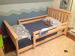 Twin Bed For Toddler Diy Toddler Bed So He Canu0027t Roll Out