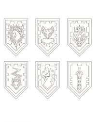 Small Picture Nexo LEGO Knights Shields Coloring Page Projekty na vyzkouen