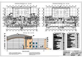 Проект по ПГС Спортивный комплекс с залом в г Нарьян Мар 3 Фасад планы