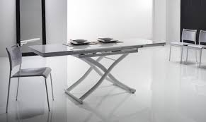 convertible glass coffee table dining table shown as a dining table