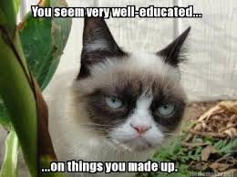 You're imagination is fruitful. | I love you Grumpy cat! | Pinterest via Relatably.com