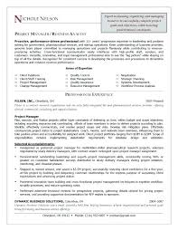 Resume Example Project Manager Sample Project Manager Resume