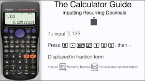 how to input recurring decimals repeating casio calculator fx maxresde 2 3 times 2 3 in
