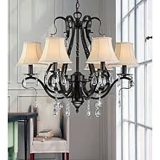 black iron 5 light chandelier 11511205 overstockcom shopping great deals on the lighting store chandeliers pendants black chandelier lighting photo 5