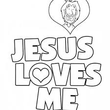 Small Picture Jesus loves me coloring sheet jesus love me sticker coloring page