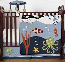ocean blue sea life baby bedding 4pc crib set by sweet jojo designs only 139 99