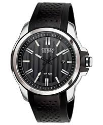 clearance closeout citizen watches macy s citizen men s drive from citizen eco drive black rubber strap watch 45mm aw1150 07e