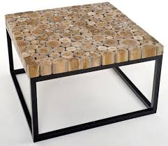 contemporary metal furniture. Natural Wood Coffee Table With Metal Base Image And Description Contemporary Furniture