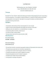 New Teacher Resume Awesome Httpwwwresumecareerinfo New Teacher Resume Free Teacher Resume