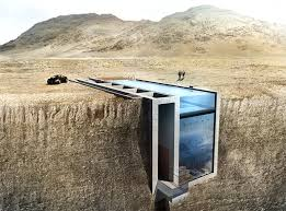 Crazy home carved into a coastal cliff has a swimming pool roof