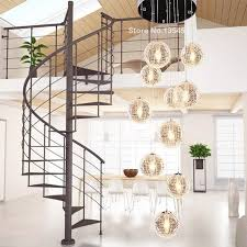 large pendant lighting fixtures. Modern Large Long Stair Round Ball Lustres Chandeliers 10 Lights Living Room Glass Globle Pendant Lamps Lighting Fixtures