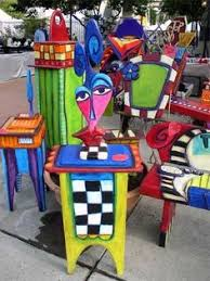 colorful painted furniture. Brilliant Colorful Luonu0027s Art Is An Artistic Treasure Colorful Painted Furniture They  Make Everyone Happy In Colorful Painted Furniture