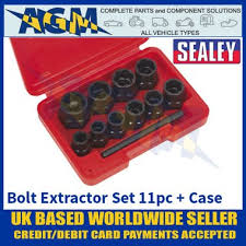 "Sealey AK8184 <b>Bolt Extractor</b> Set, <b>11 Piece</b>, 3/8"" Square Drive or ..."