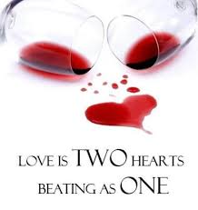 love is two hearts beating as one and sharing wine social vignerons