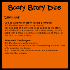 scary story directions boo scary make your own scary story dice for halloween great for the classroom or for families they add creativity and fun to your halloween celebrations