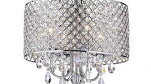 chrome crystal chandelier new marya 4 light round drum ceiling fixture for 9