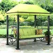 canopy swing outdoor bed patio porch set garden mainstays belden park 3 person blue ca