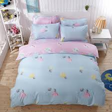 blue pink cartoon colorful light bulb pattern 4pc duvet cover bed sheets pillowcase bedding super queen king size hometextiles in bedding sets from home