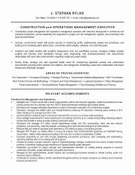 Construction Management Resume Objective Best Sample 44 New Stock