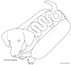 Dog Coloring Pages Dachshund Page Free Printable Pictures Dropnewsme