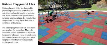 rubber playground tiles multi color playground surfacing safety tiles