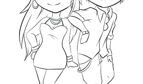 Cute Couple Coloring Pages Cute Couple Coloring Pages Anime Couple
