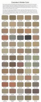 Admixtures Inc Color Charts