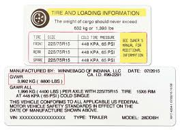 Trailer Tire Pressure Chart How To Set The Correct Travel Trailer Tire Pressure Rv Talk