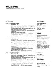 Professional Resume Design Word Template With Cover Letter