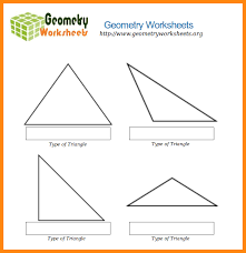 7+ types of triangles worksheet   math cover