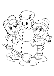 Kleurplaat Overgrootoma Kleurplaat Sneeuwpop 24 Gratis Sneeuwpop