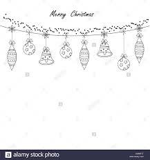 Black And White Modern Christmas Card Stock Vector Art