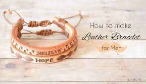 picture of how to make leather bracelet for men