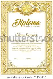 Vintage frame border Chandelier Diploma Template With Vintage Frame Border In Monochrome Color Gamma Shutterstock Diploma Template Vintage Frame Border Monochrome Stock Vector