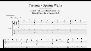 chopin spring waltz sheet music yiruma spring waltz guitar tab fingerstyle hd 1080p youtube
