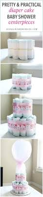 these beautiful diaper cakes make the perfect baby shower centerpieces they are easy party decor