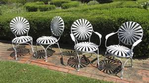 c1900 french metal garden chairs