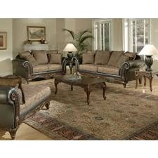 classical living room furniture. San Marino 2-Tone Chocolate Brown Fabric Sofa \u0026 Loveseat Classical Living Room Furniture D