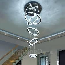 modern led bulb ceiling light pendant fixture lighting crystal chandelier 5 rings indoor chandeliers home hanging