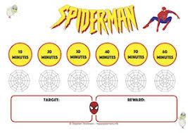 Spiderman Reward Chart Spiderman Reward Systems