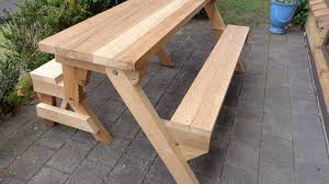 DIY Convertible Picnic Table that folds into bench seats. This video shows  just how easy it is to make your own folding picnic table wood working  project.